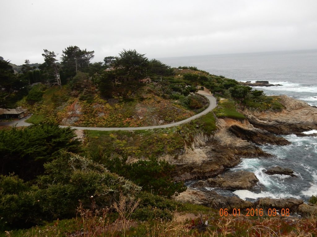 Looking down on a cliffside home in Carmel Highlands - figured it was NOT Clint Eastwood, no birthday balloons