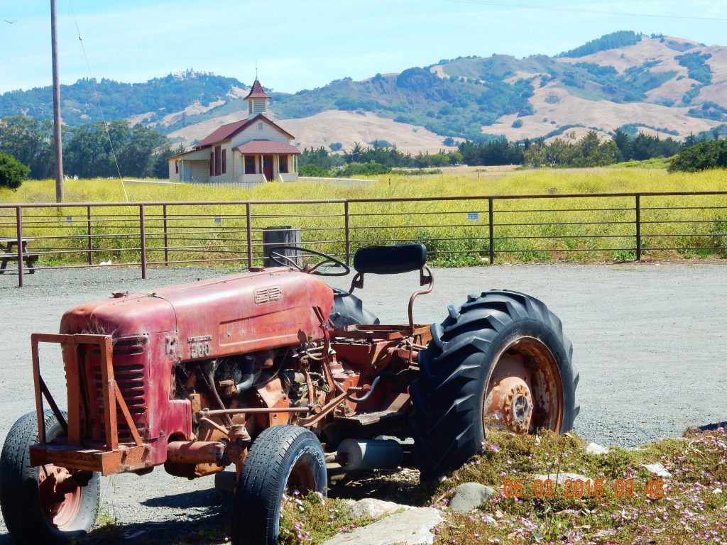 Old tractor next to San Simeon (Sebastian's) General Store