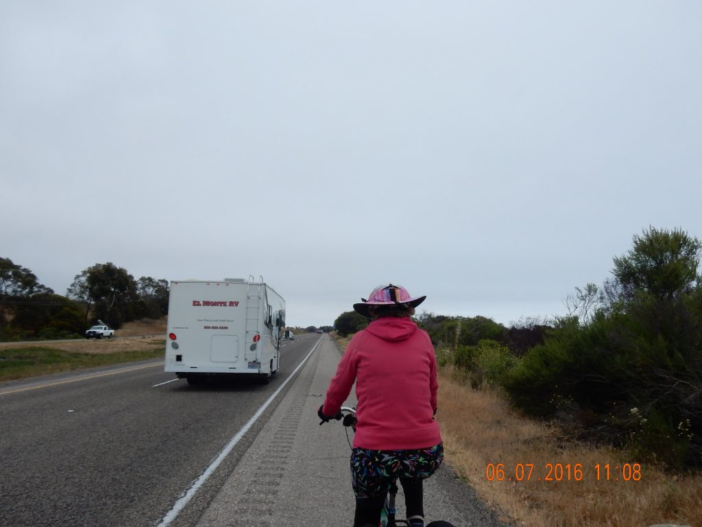 Karen drafting an RV