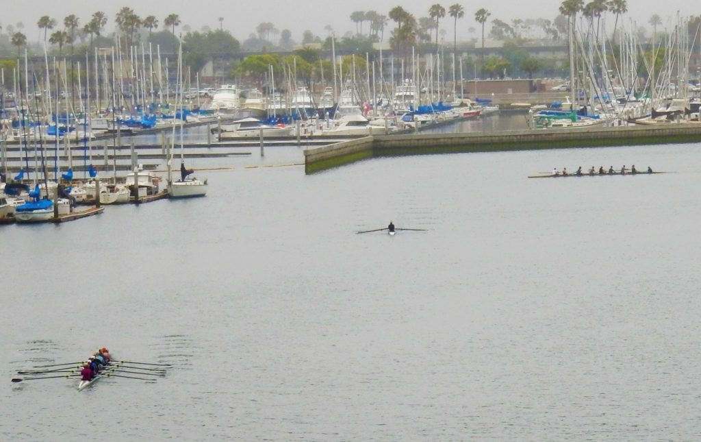 Rowing in Monitor Bay near Seal Beach