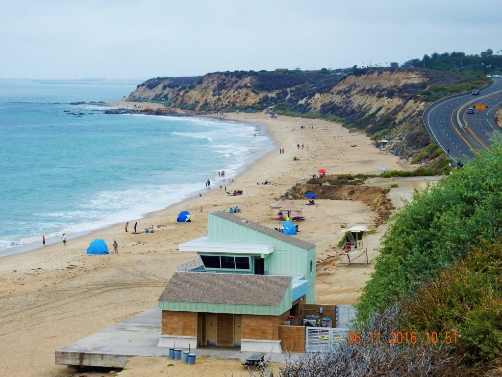 Looking back over Crystal Cove State Beach, near Laguna Beach